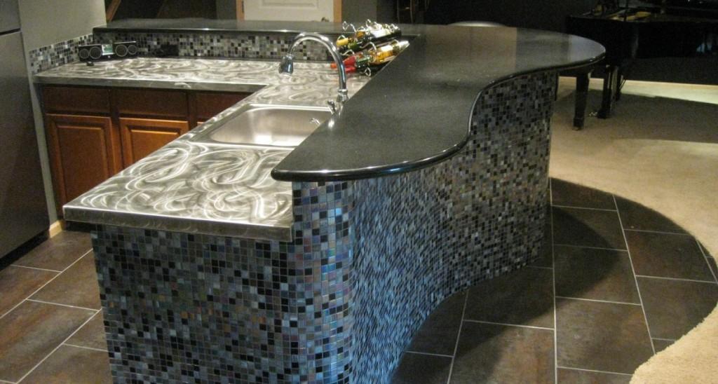 premier construction, piano bar, custom bar, lower level finish, custom basement, basement design