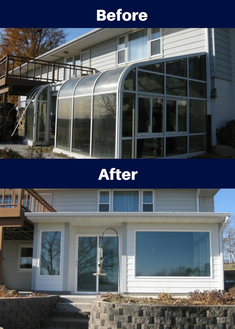 premier construction des moines sunroom custom before and after blog
