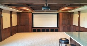 Lower Level Basement Finish Theater Screen